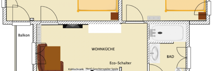 Grundriss Arnika – 1. Etage